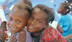 Sisters at the food program